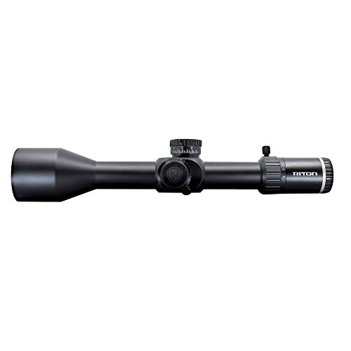 Riton Rifle Scope 1 Riton Optics X7 Conquer 4-32x56, 34mm Tube, Advanced Zero Stop turrets, First Focal Plane, and Illuminated Precision Reticle with Unlimited Lifetime Promise.