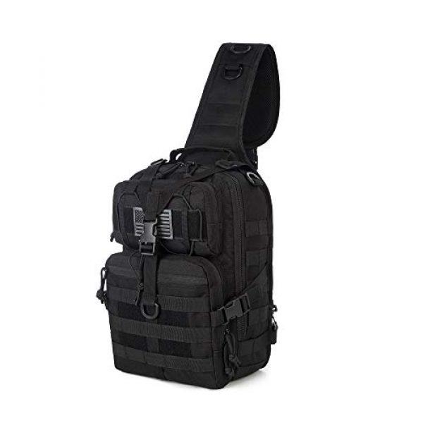 J.CARP Tactical Backpack 1 J.CARP Tactical EDC Sling Bag Pack, Military Rover Shoulder Molle Backpack, with USA Flag Patch