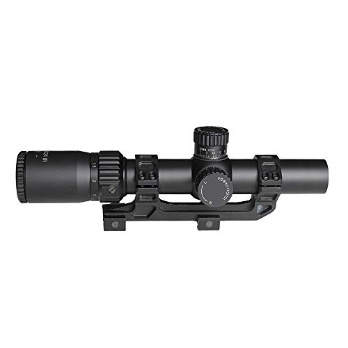 SPINA OPTICS Rifle Scope 2 SPINA OPTICS Riflescope BM WA 1-5X24 IR Tactical Optic Sight Wide Angle Red Dot Illuminated Rifle Scope for Hunting Shooting