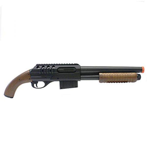 BBTac Airsoft Shotgun 2 BBTac BT-M47 Sawed-Off Style Spring Shotgun, Black