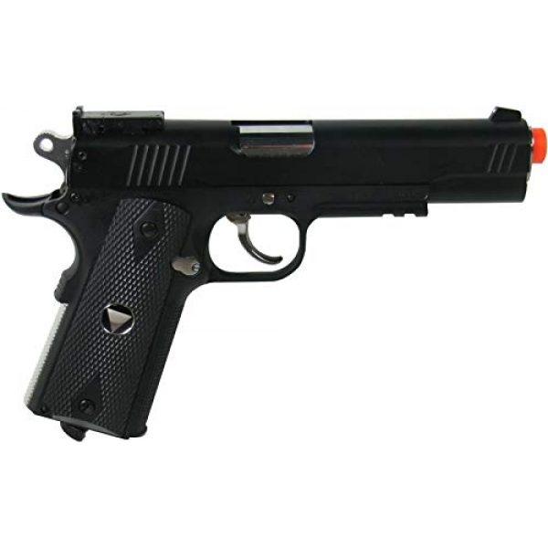 WinGun Airsoft Pistol 2 WinGun Special Combat Pistol 1911 CO2 Blowback Airsoft Gun Black with Black Grip
