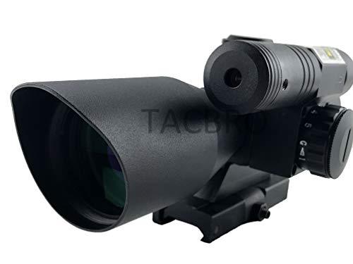 Aim Sports Rifle Scope 3 AIM Sports TACBRO Tactical 2.5-10X40MM Dual III Scope with Green Laser Duplex Reticle