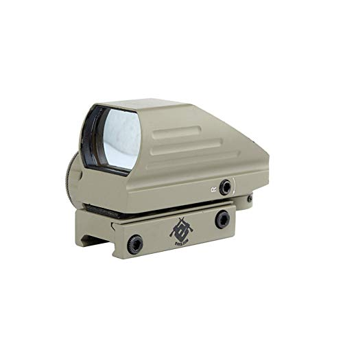DJym Rifle Scope 1 DJym Sand Color Red and Green Dot Reflex Sight Scope with Broad Gauge Electrodeless Used for Hunting Rifle Scope
