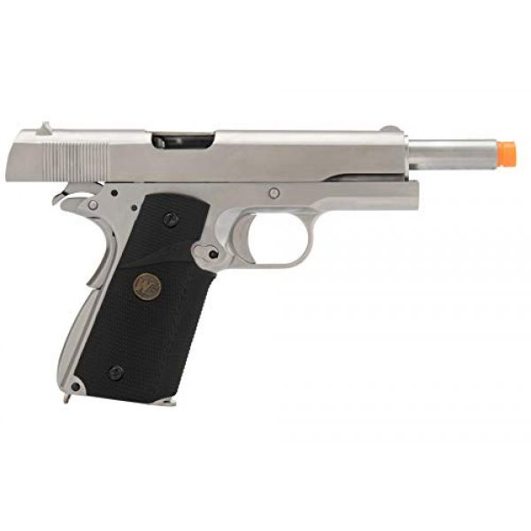 Lancer Tactical Airsoft Pistol 6 Lancer Tactical WE M1911 Full Metal MEU Gas Blowback Airsoft Pistol Silver Black
