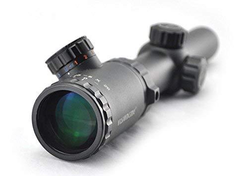 Visionking Rifle Scope 1 Visionking Rifle Scope 1.25-5x26 Mil-dot Rifle Scope Riflescope for Black