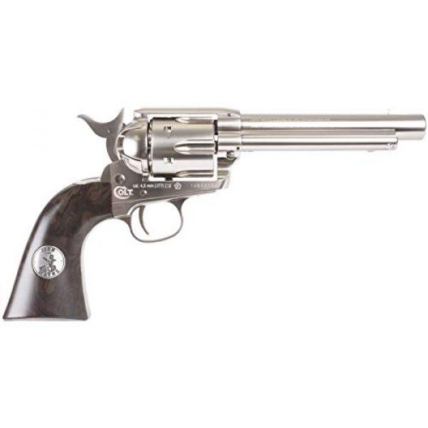 Colt Air Pistol 3 Colt John Wayne CO2 Pellet Revolver, Nickel - 0.177 Caliber