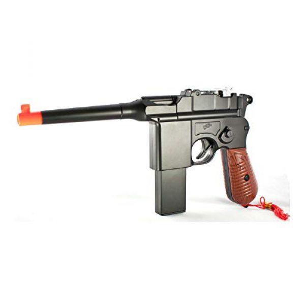 MilSim Airsoft Pistol 1 New WW2 MAUSER BROOMHANDLE C96 German Airsoft Spring Hand Gun Pistol w/ 6mm BB