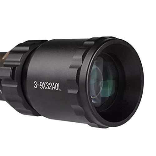 WSHA Rifle Scope 3 WSHA 3-9x32 Rifle Scope - Sniper Optical Sightwith Illuminated MOA Reticle and Parallax Adjustment for Hunting