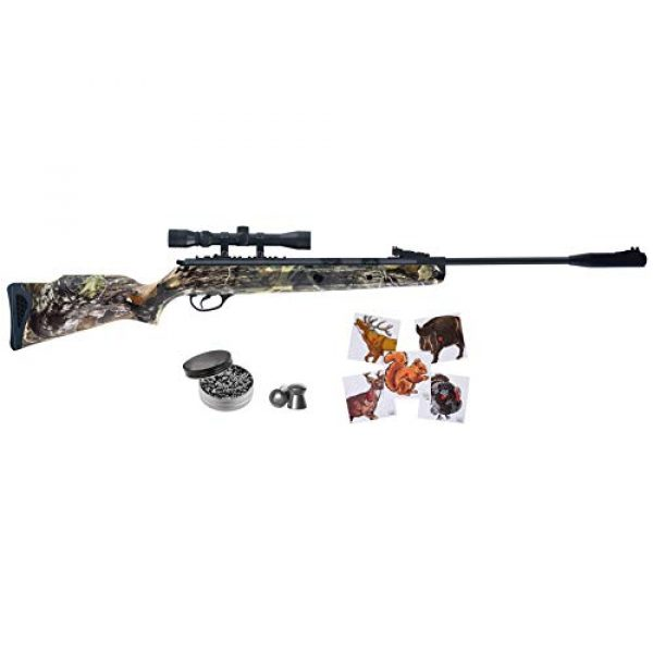 Wearable4U Air Rifle 1 Hatsan Mod 125 Spring Camo Combo Air Rifle with Wearable4U Paper Targets and Lead Pellets Bundle