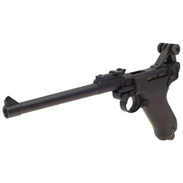 WE Airsoft Pistol 2 WE p-08 long version gas blowback full metal - black(Airsoft Gun)