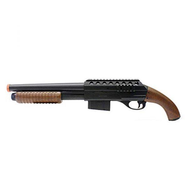 BBTac Airsoft Shotgun 3 BBTac BT-M47 Sawed-Off Style Spring Shotgun, Black