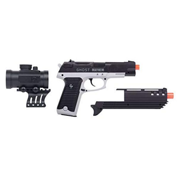 Game Face Airsoft Pistol 5 GameFace GFM39PG Ghost Mayhem Spring-Powered Single-Shot Airsoft Pistol