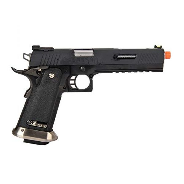 """Lancer Tactical Airsoft Pistol 2 Lancer Tactical WE-Tech Hi-Capa 6"""" IREX Full Auto Competition GBB Airsoft Pistol Black with Markings"""