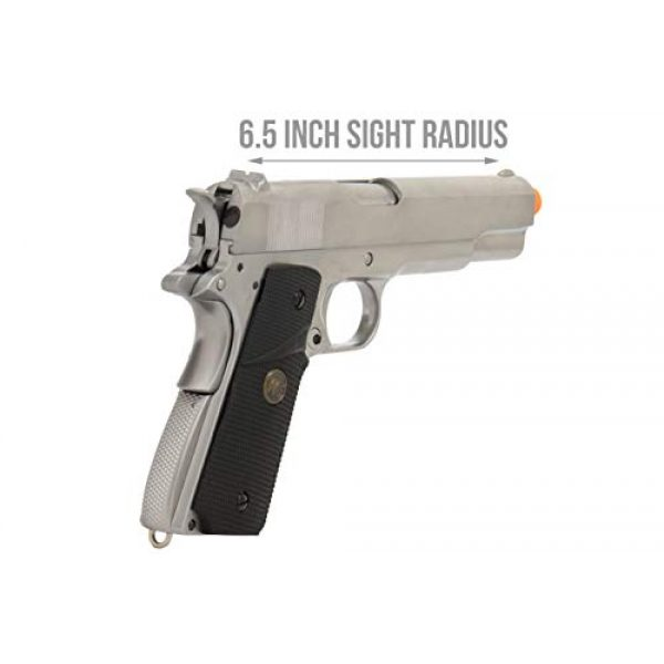Lancer Tactical Airsoft Pistol 3 Lancer Tactical WE M1911 Full Metal MEU Gas Blowback Airsoft Pistol Silver Black
