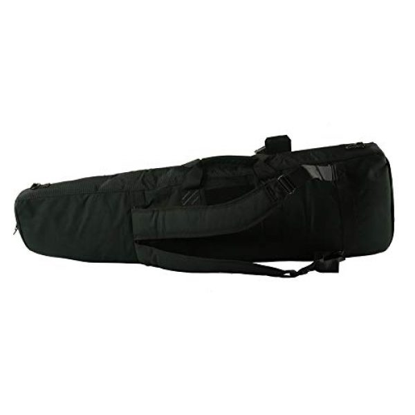 K-Cliffs Tactical Backpack 7 Tactical Rifle Backpack Gun Storage Case Double Long Rifles Carrying Bag   Lockable Zippers   Water Resistance Black