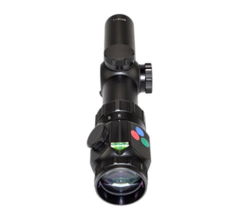 Presma Rifle Scope 4 Presma 1-6x28 Precision Rifle Scope/Etched Illuminated Reticle Emerald, Multi-Coated Lenses/Fog, Waterproof, Shockproof