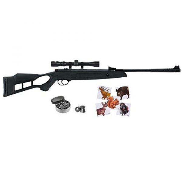 Wearable4U Air Rifle 1 Hatsan Edge Spring Combo Air Rifle with Included Wearable4U 100x Paper Targets and Lead Pellets Bundle