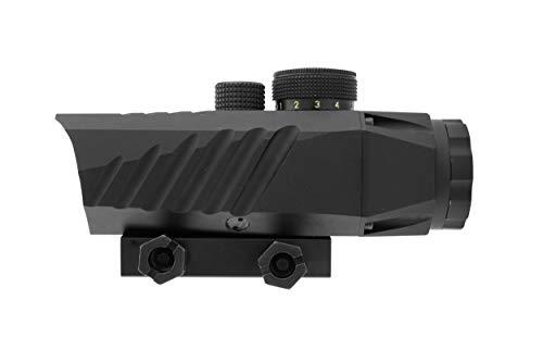 Monstrum Rifle Scope 4 Monstrum P330 Marksman 3X Prism Scope | RM5-AH Adjustable Height Riser Mount with Quick Release | Bundle