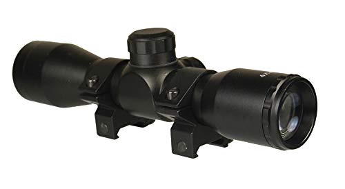 "TWP Rifle Scope 1 TWP 4x32 Compact Hunting Scope, Mil-dot Reticle, 1"" Tube and Mid-Height Weaver Ring Mount"