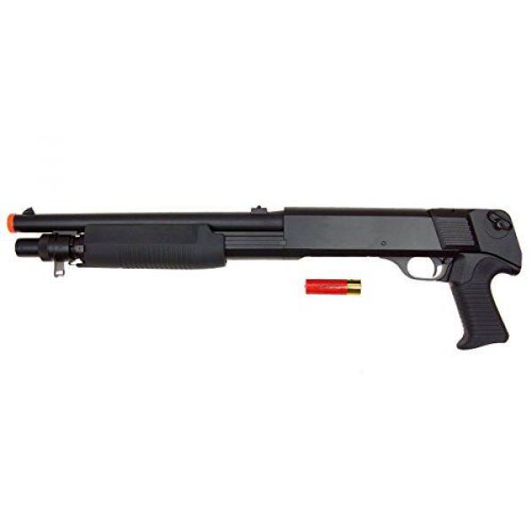 DE/CSI Airsoft Shotgun 2 DE Model-799S Tri-Burst Shot Gun w/Pistol Grip&Shell Holster