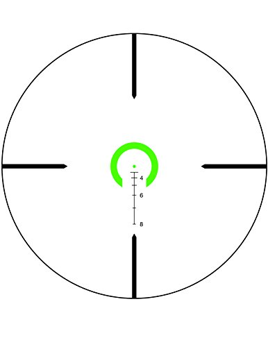 Trijicon Rifle Scope 6 Trijicon VC16-C-1600043 Vcog 1-6x24mm Green Horseshoe Dot/Crosshair Riflescope.223/77 Grains Ballistic Reticle with Thumb Screw Mount, Black