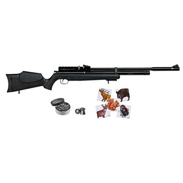 Wearable4U Air Rifle 1 Hatsan AT44S10 QE Open Sight Air Rifle with Included Wearable4U 100x Paper Targets and Lead Pellets Bundle