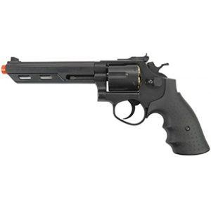 HFC Airsoft Pistol 1 HFC hg-133 6 barrel gas revolver, black airsoft gun(Airsoft Gun)
