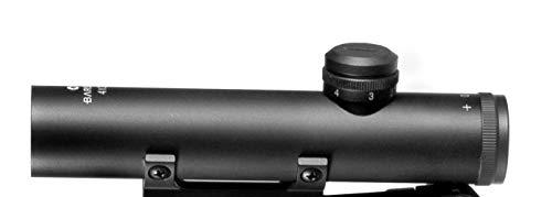 BARSKA Rifle Scope 2 Barska 4x20 Electro Sight Carry Handle Scope Mil Dot Reticle (AC11608)