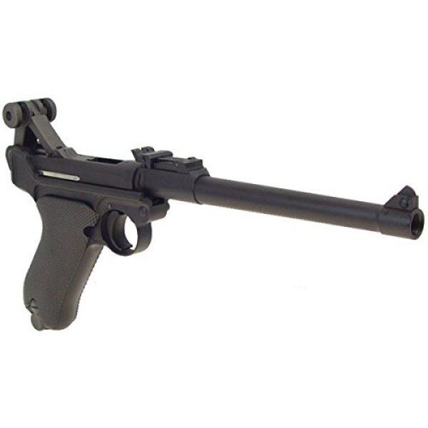 WE Airsoft Pistol 3 WE p-08 long version gas blowback full metal - black(Airsoft Gun)