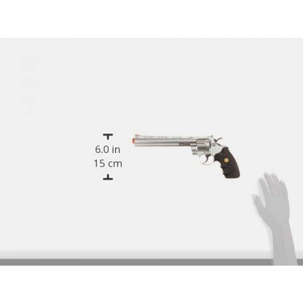 "Team SD Airsoft Pistol 4 TSD/UHC Sports Model 141SR Gas Airsoft Revolver - Silver/Black w/ 8"" Barrel"