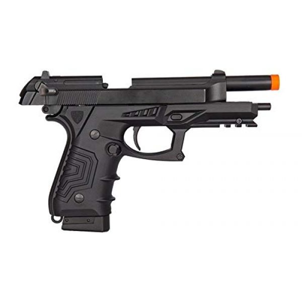 HFC Airsoft Pistol 2 HFC HG-173 M92 CO2 Blowback Airsoft 1911 Tactical Pistol Full/Semi Automatic Black with Gun Case