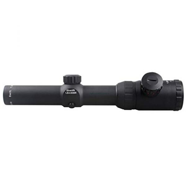 Vector Optics Rifle Scope 6 Vector Optics Swift 1.25-4.5x26mm, 1/4 MOA, 30mm Tube, Red and Green Dot Illuminated Reticle, Second Focal Plane (SFP) Hunting Riflescope