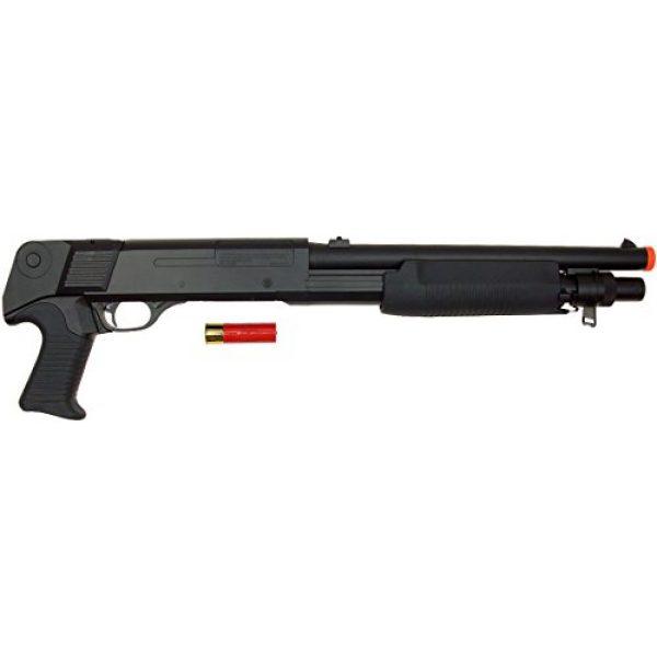 DE/CSI Airsoft Shotgun 3 DE Model-799S Tri-Burst Shot Gun w/Pistol Grip&Shell Holster