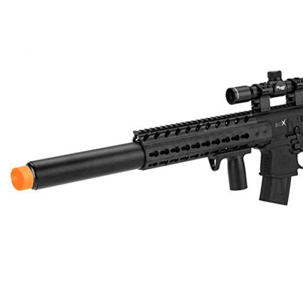 Sig Sauer Air Rifle 4 Sig Sauer MCX .177 Cal CO2 Powered 1-4x24mm Scope Air Rifle (30 Rounds), Black, one size