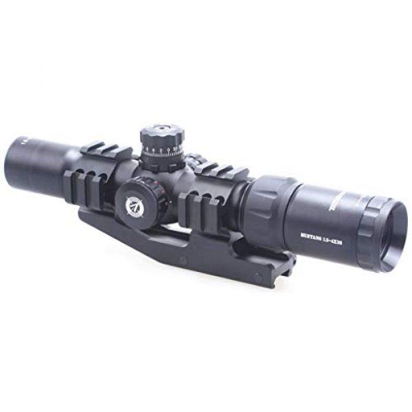 Vector Optics Rifle Scope 3 Vector Optics Mustang 1.5-4x30mm, 1/2 MOA, 30mm Tube, Red, Green & Blue Illuminated Chevron Reticle,Tactical Second Focal Plane (SFP) Riflescope