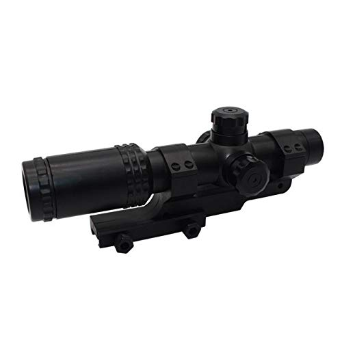 KTAIS Rifle Scope 3 KTAIS 8X Sight Scope Riflescope Green & Red Cross Tactical Hunting Optics Holographic Sight Toy Plastic Gun Accessories (Color : Black)