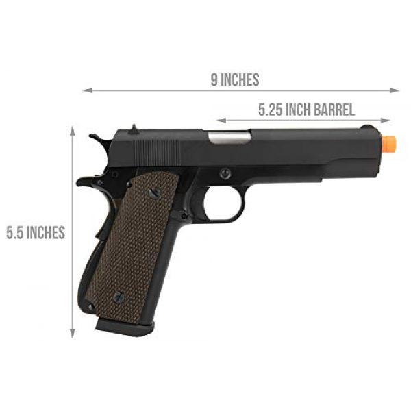 Lancer Tactical Airsoft Pistol 2 Lancer Tactical WE 1911 High Capacity Full Metal Airsoft Gas Blowback Pistol Black 330 FPS