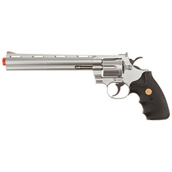 "Team SD Airsoft Pistol 1 TSD/UHC Sports Model 141SR Gas Airsoft Revolver - Silver/Black w/ 8"" Barrel"