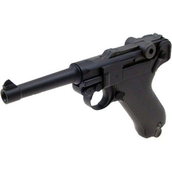 WE Airsoft Pistol 2 WE p-08 short version gas blowback full metal - black(Airsoft Gun)