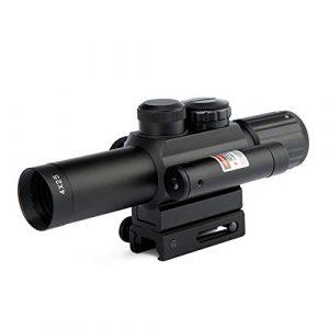 DJym Rifle Scope 1 DJym 4X25 Sight, Universal Sight Hunting Rifle Scope, Waterproof, Anti-Fog and Shockproof