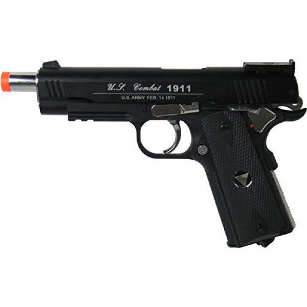 WinGun Airsoft Pistol 3 WinGun Special Combat Pistol 1911 CO2 Blowback Airsoft Gun Black with Black Grip