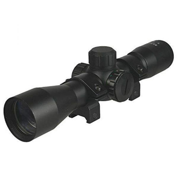 DB TAC INC Rifle Scope 1 DB TAC 4x32 Anodize Black Color Mil-dot Reticle Slug Scope Picatinny Weaver Mounted Aluminum Hunting Optics Accessory.