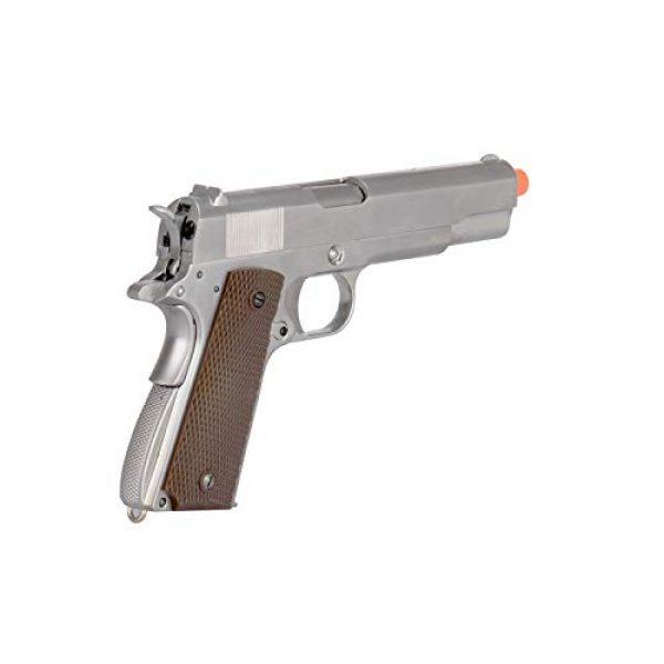 WE Airsoft Pistol 4 WE Tech M1911 Metal GBB Airsoft Pistol CO2 Version Chrome