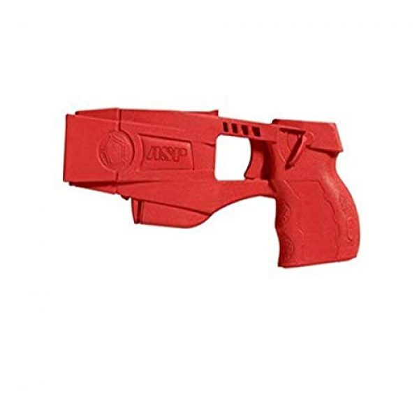 ASP Rubber Training Pistol 1 ASP Taser X26 Red Gun Replica for Training and Practice with Martial Arts, Defense, Props, Tactical, Law Enforcement, Military 07340