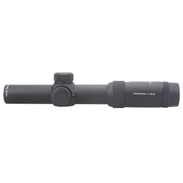 Vector Optics Rifle Scope 5 Vector Optics 1-5x24mm Second Focal Plane (SFP) 1/2 MOA Hunting Riflescope with Illuminated Dot Reticle, 30mm Mount Rings