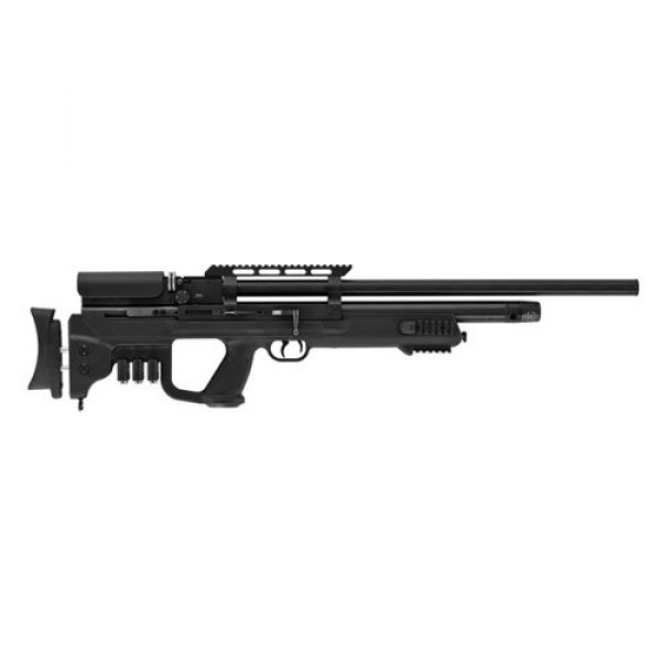 "Hatsan Air Rifle 1 Hatsan Gladius Long PCP Air Rifle .22 Caliber 23"" Barrel 10 Rounds Synthetic Stock, Black"