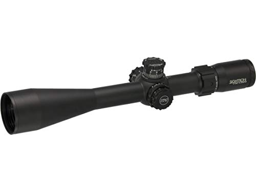 SIGHTRON Rifle Scope 1 SIGHTRON, SIII Long Range Riflescope, S-TAC, 4-20x50mm, 30mm Tube, Side Focus Zero Stop First Focal MH-4 Reticle Black