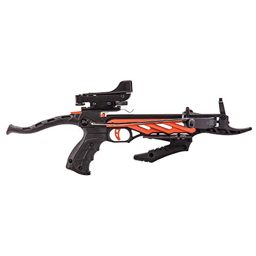 Bear X Crossbow 2 Bear X Desire RD Self-Cocking Pistol Crossbow with Red Dot Sight 3 Premium Bolts, Black, One Size