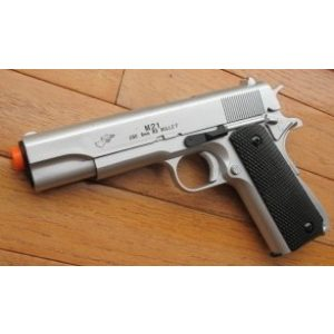 Double Eagle Airsoft Pistol 1 airsoft spring pistol m21s silver heavy weight w/bb's 1/1 scale(Airsoft Gun)