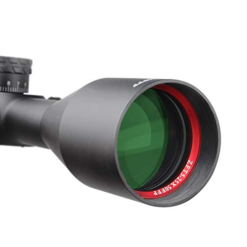 Sniper Rifle Scope 7 Sniper ZT 5-25x50 FFP First Focal Plane (FFP) Scope with Red/Green Illuminated Reticle